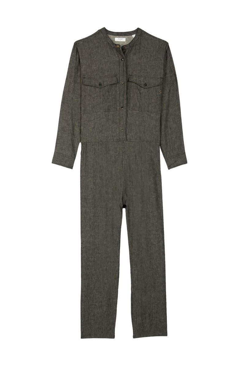 BILLY REID Chambray Jumpsuit, Main, color, BLACK
