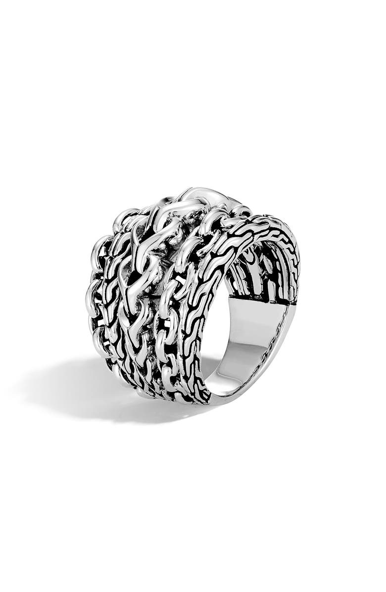 JOHN HARDY Asli Classic Chain Link Ring, Main, color, Silver