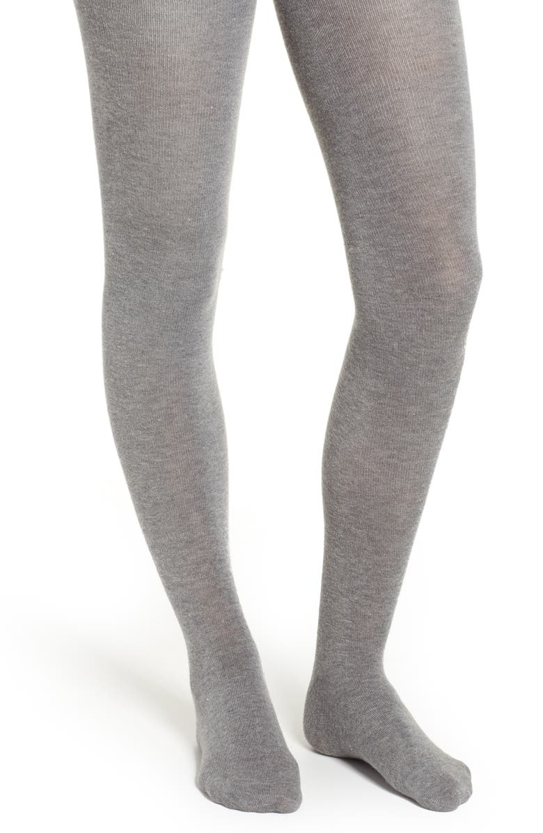 NATORI Cashmere Blend Sweater Tights, Main, color, MED GRAY HEATHER