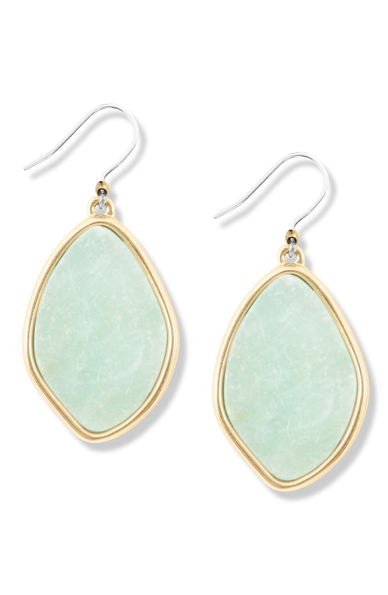 LUCKY BRAND Amazonite Drop Earrings, Main, color, GOLD