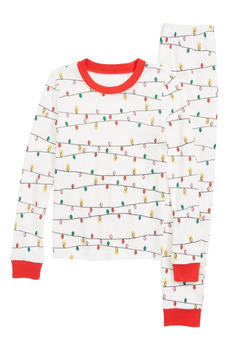 TUCKER + TATE Glow In The Dark Two-Piece Fitted Pajamas, Main, color, 900