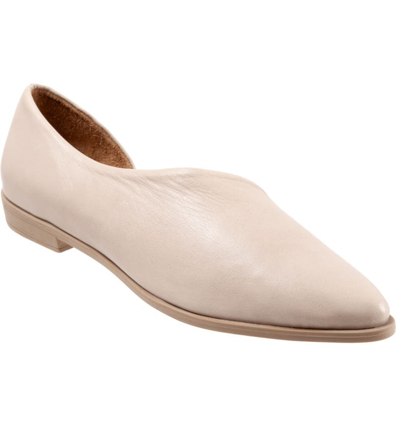 BUENO Brandi Half d'Orsay Flat, Main, color, LIGHT GREY LEATHER