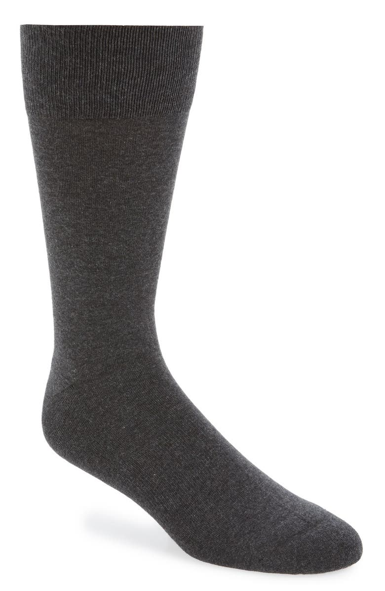 NORDSTROM Cushion Foot Arch Support Socks, Main, color, CHARCOAL HEATHER