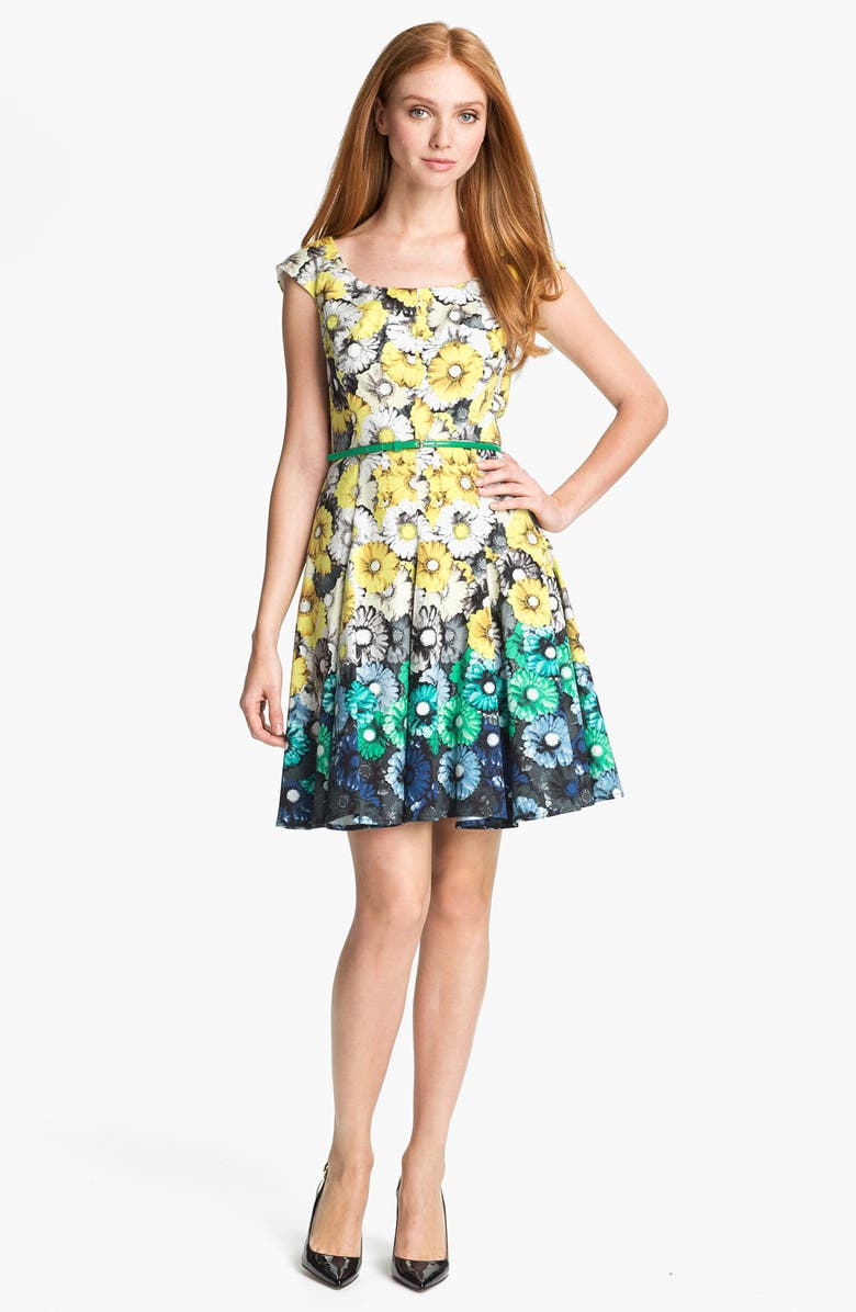 MAGGY LONDON Print Fit & Flare Dress, Main, color, 400