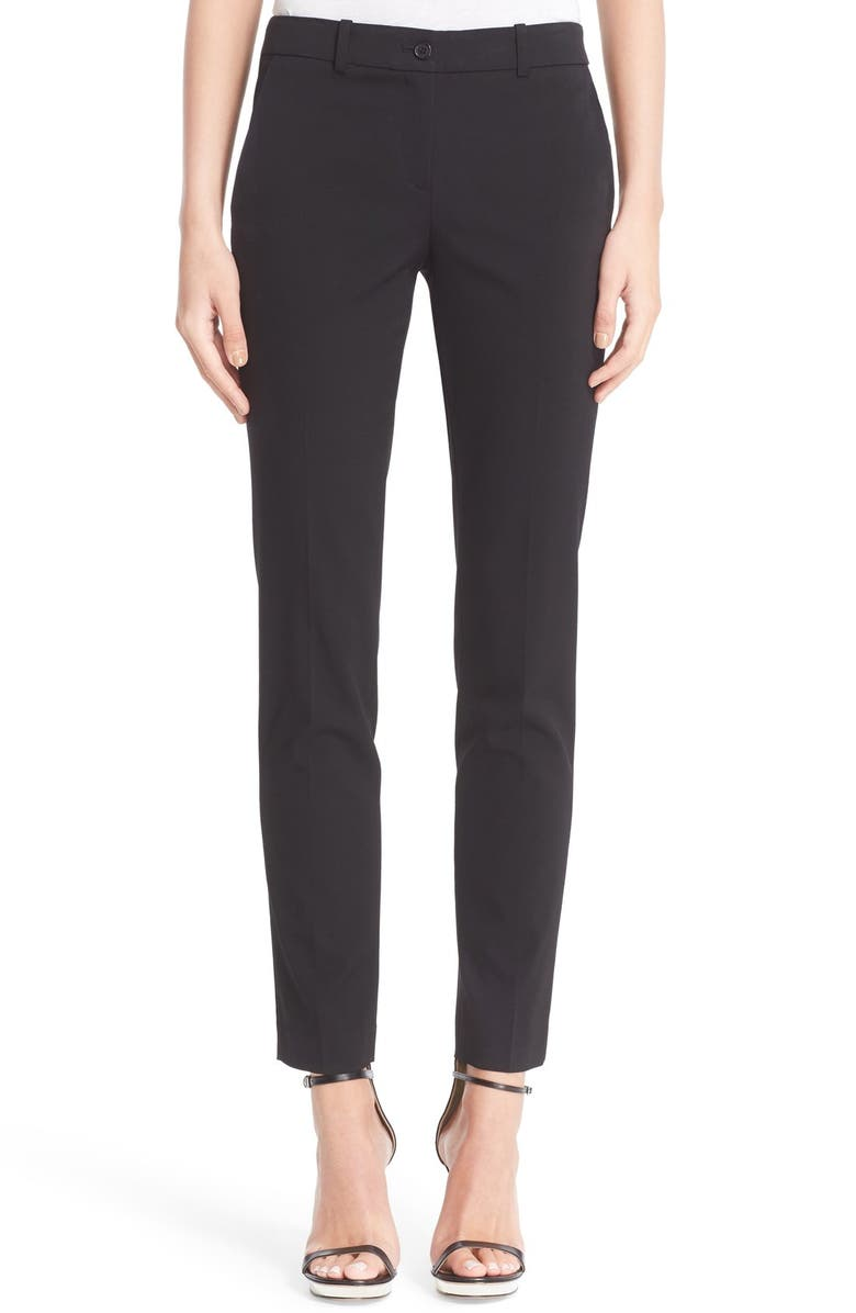 MICHAEL KORS Samantha Straight Leg Pants, Main, color, BLACK