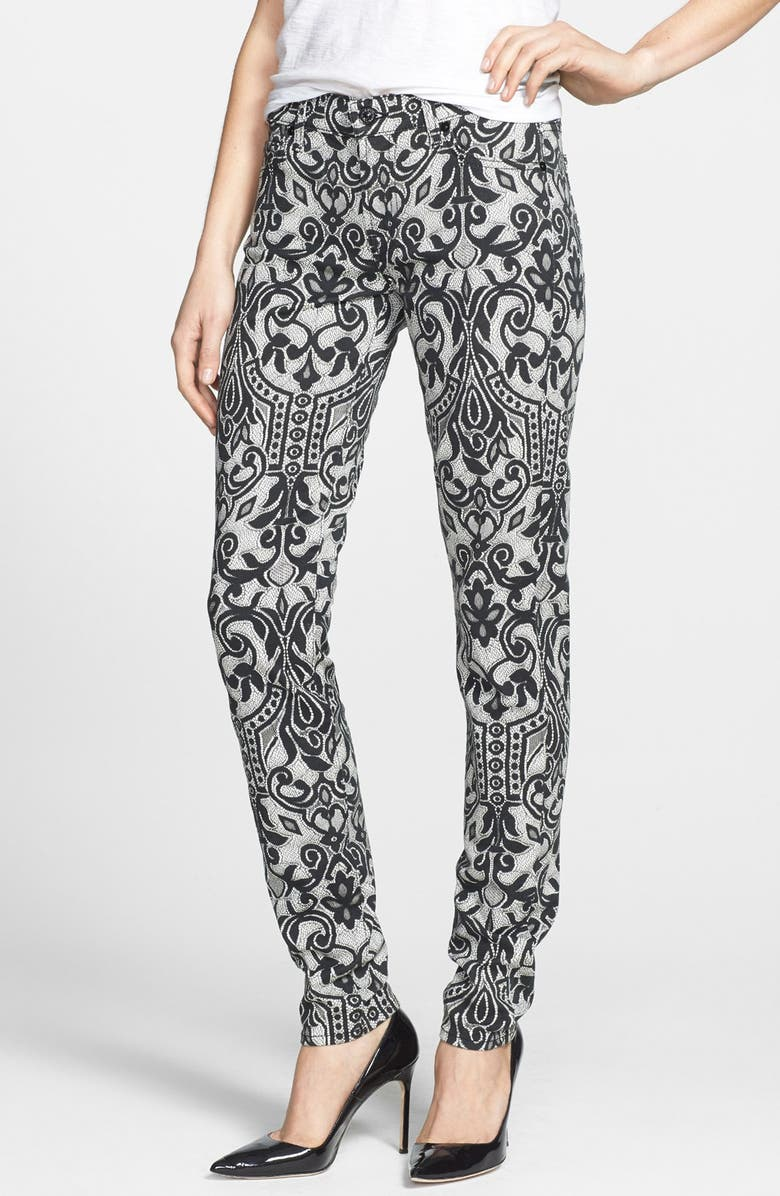 7 FOR ALL MANKIND <sup>®</sup> Lace Print Skinny Jeans, Main, color, OVERLAY LACE