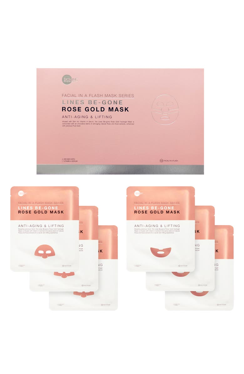 SKIN INC. Lines-Be-Gone Rose Gold Mask Set, Main, color, 000