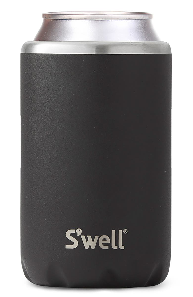S'WELL 12-Ounce Stainless Steel Drink Chiller, Main, color, ONYX