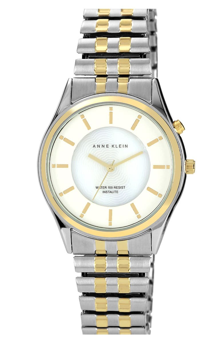 ANNE KLEIN Round Expandable Bracelet Watch, 34mm, Main, color, 041