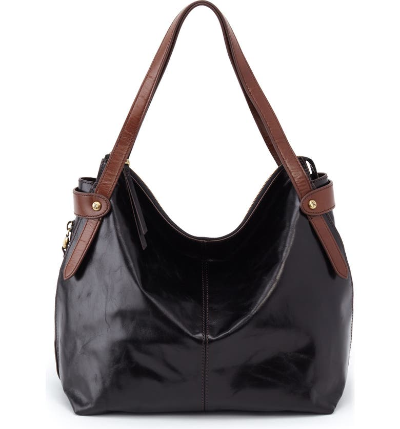 HOBO Elegy Leather Hobo Bag, Main, color, 001