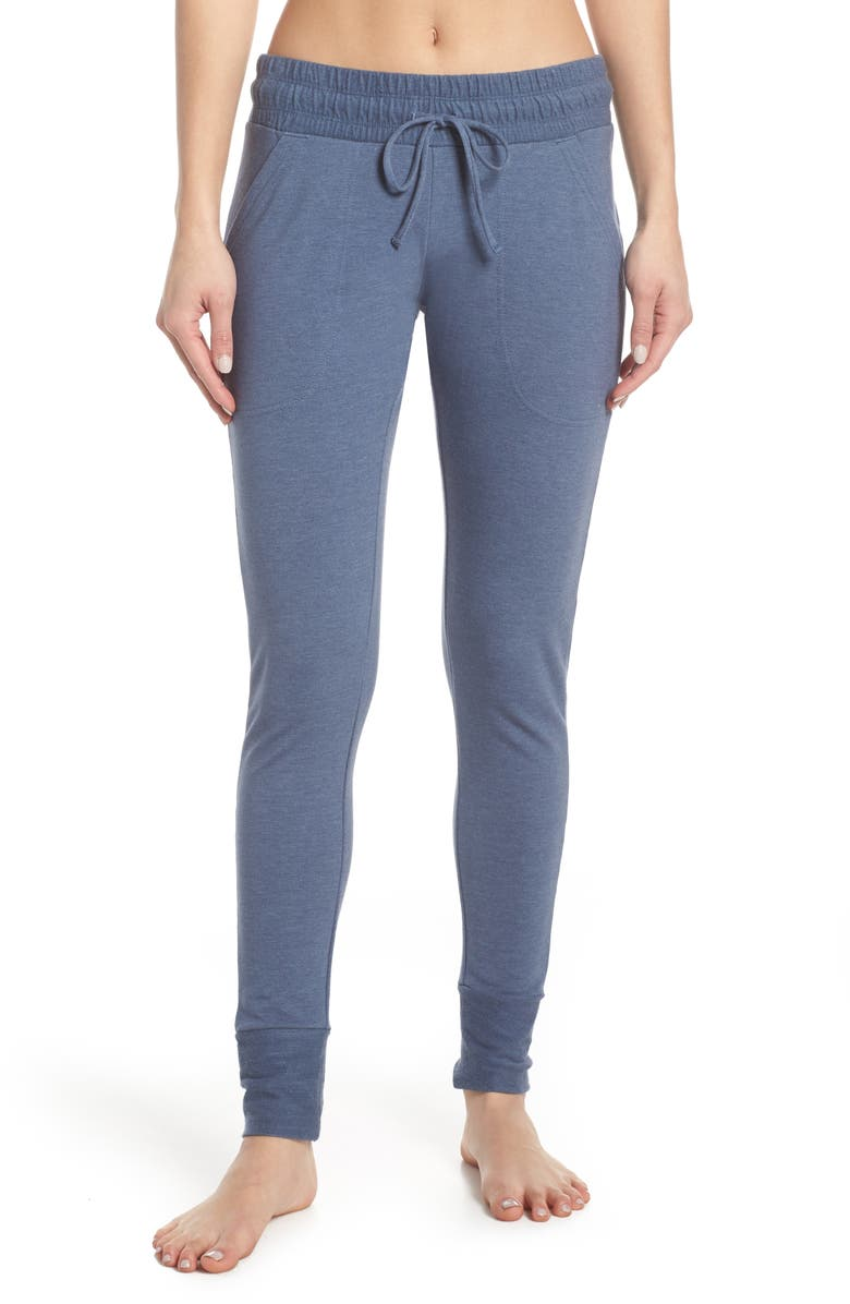 FREE PEOPLE FP MOVEMENT Sunny Skinny Sweatpants, Main, color, BLUE