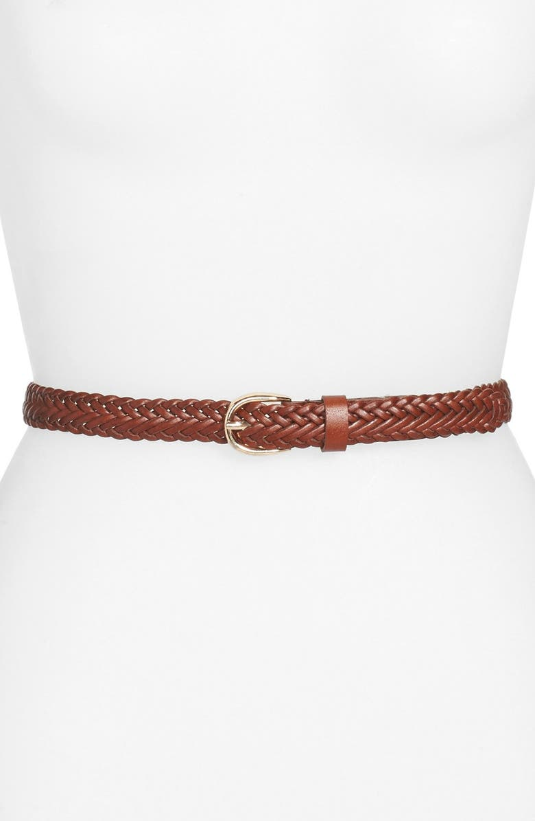 BP. Braided Faux Leather Belt, Main, color, 200
