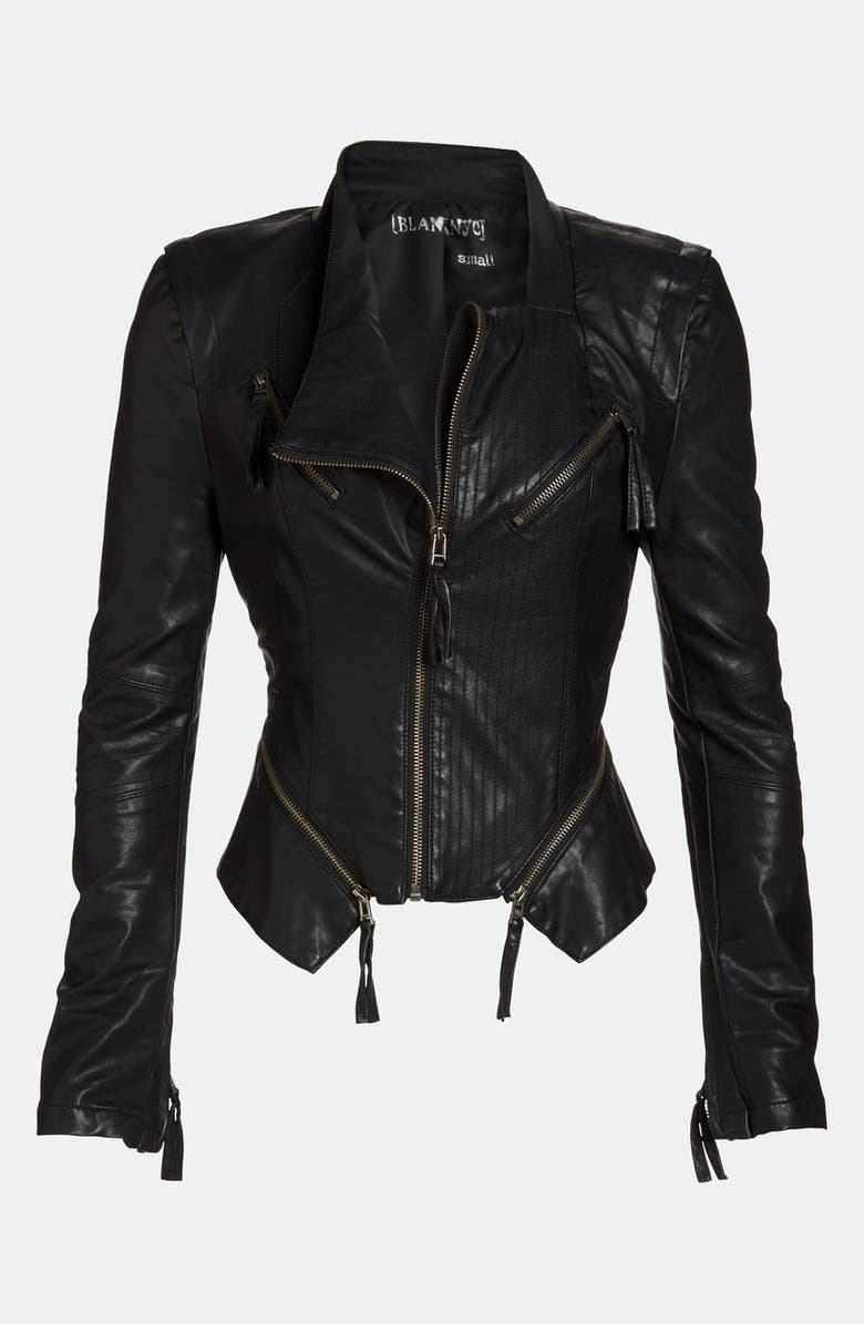 BLANKNYC Faux Leather Jacket, Main, color, BLACK