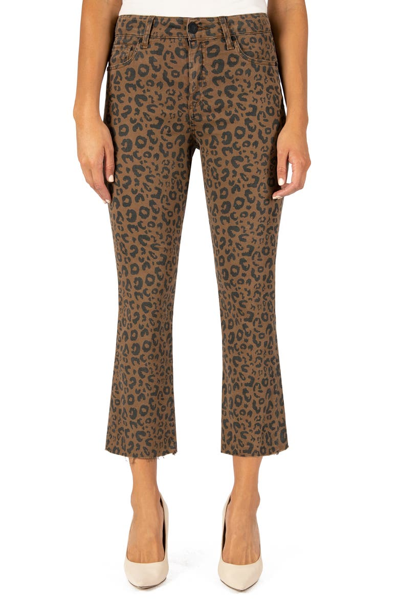 KUT FROM THE KLOTH Kelsey High Waist Ankle Flare Jeans, Main, color, MOCHA/BLACK