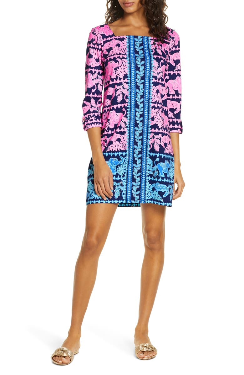 LILLY PULITZER<SUP>®</SUP> Bailee Print Floral Shift Dress, Main, color, 434