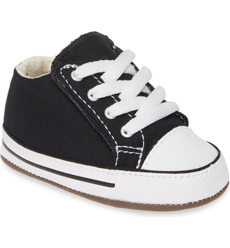 CONVERSE Chuck Taylor<sup>®</sup> All Star<sup>®</sup> Cribster Canvas Crib Shoe, Main, color, BLACK/ NATURAL IVORY/ WHITE