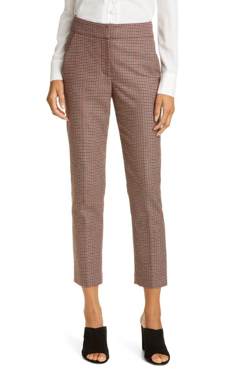 VERONICA BEARD Gemini Check Crop Pants, Main, color, 640