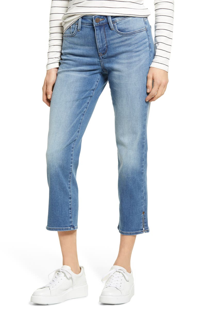 NYDJ Sheri Rivet Side Slit Crop Slim Jeans, Main, color, MAELE