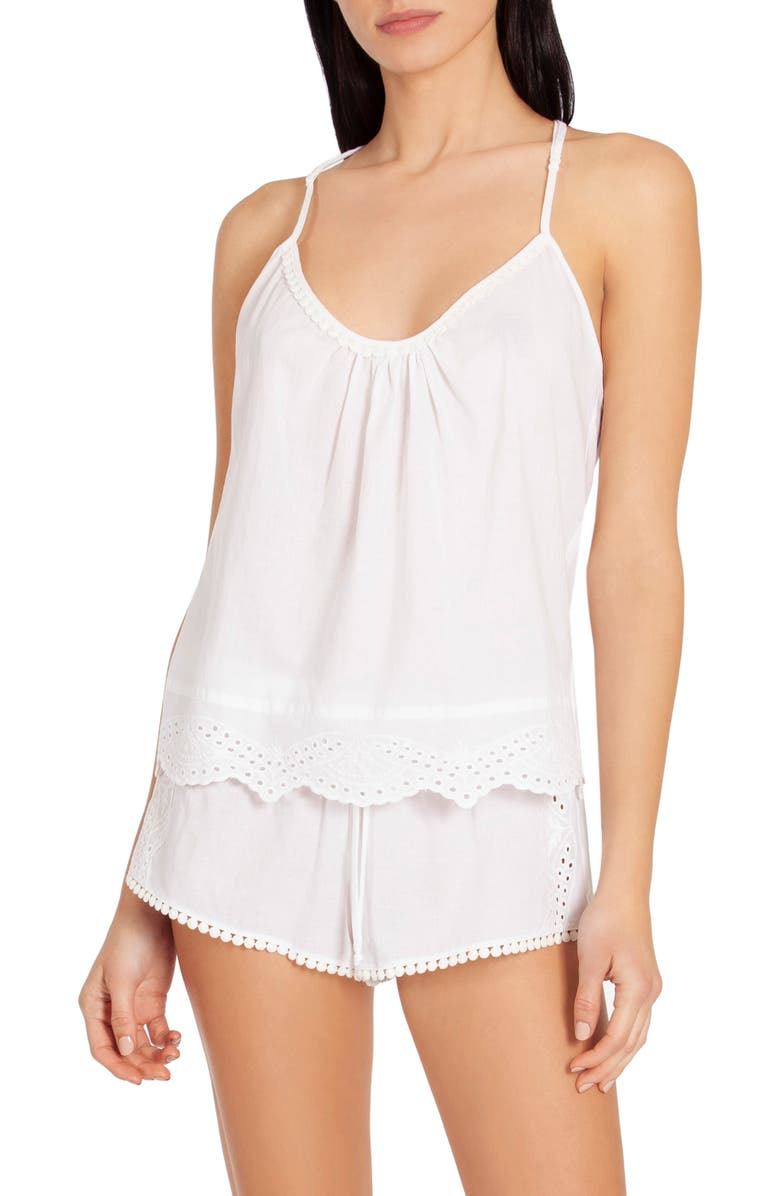 IN BLOOM BY JONQUIL Eyelet Short Pajamas, Main, color, 100