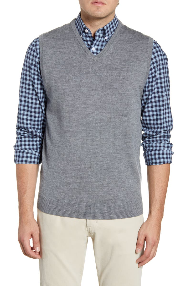 NORDSTROM MEN'S SHOP Merino Wool Sweater Vest, Main, color, 032