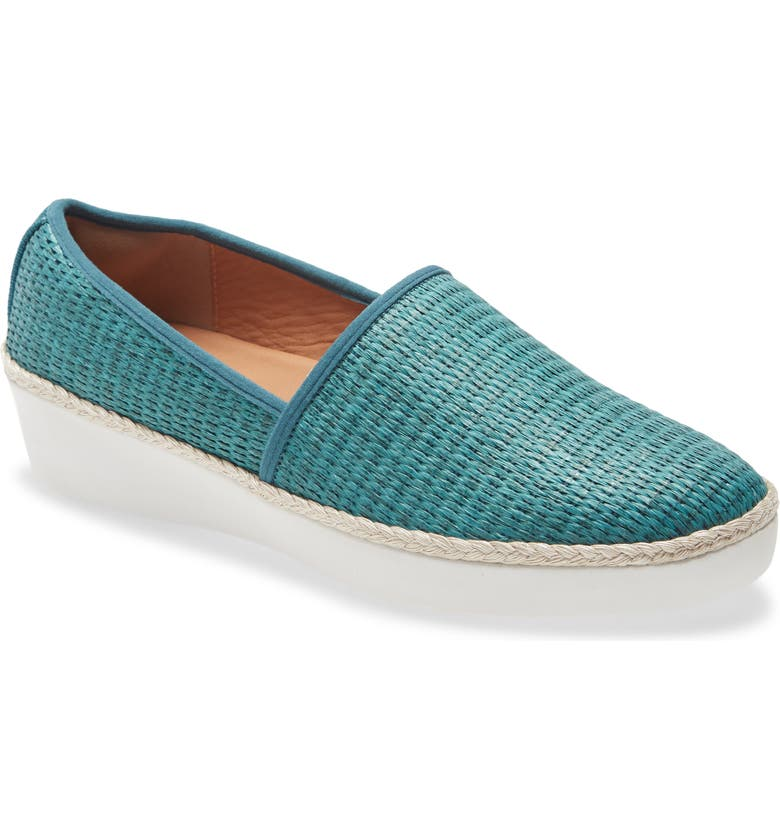 FITFLOP Casa Loafer, Main, color, SEA BLUE/ BLUE FABRIC