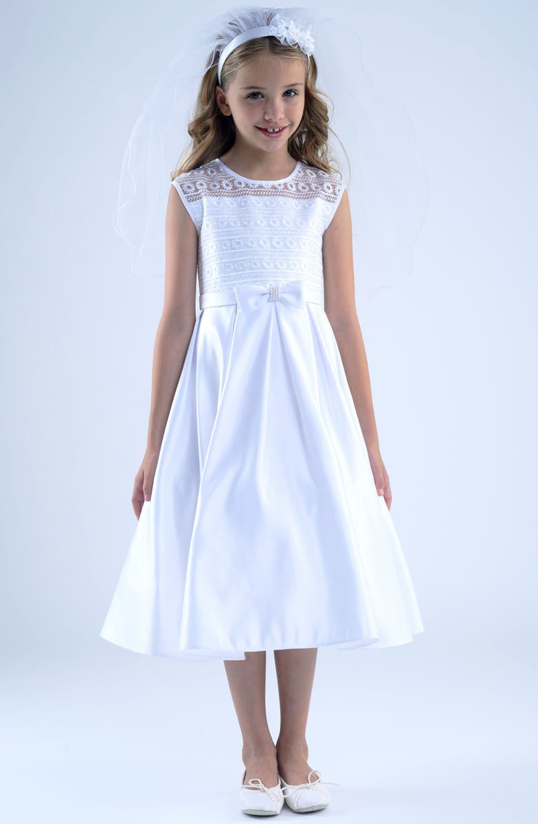 US ANGELS First Communion Dress, Main, color, 100