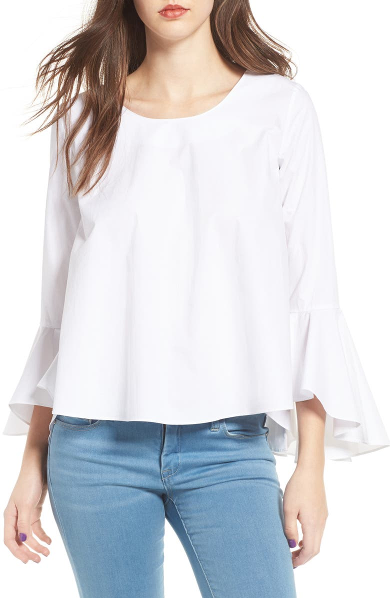SOPRANO Bell Sleeve Top, Main, color, 100