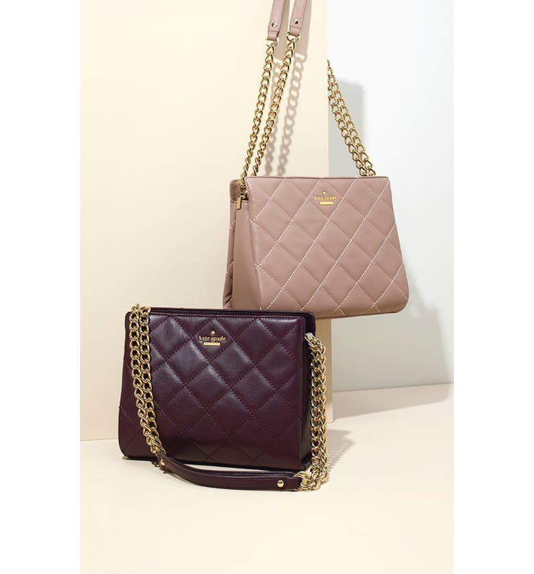 KATE SPADE NEW YORK 'emerson place - mini convertible phoebe' quilted leather shoulder bag, Main, color, 139