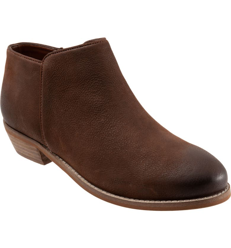 SOFTWALK<SUP>®</SUP> Rocklin Bootie, Main, color, BROWN/ CHESTNUT LEATHER