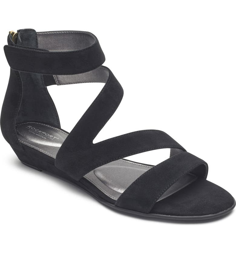 ROCKPORT Zandra Total Motion<sup>®</sup> Sandal, Main, color, 001