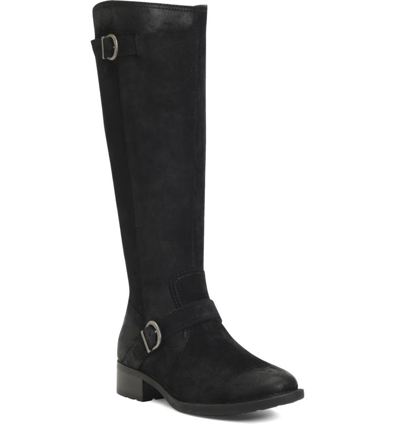 BØRN Chesire Knee High Boot, Main, color, BLACK SUEDE