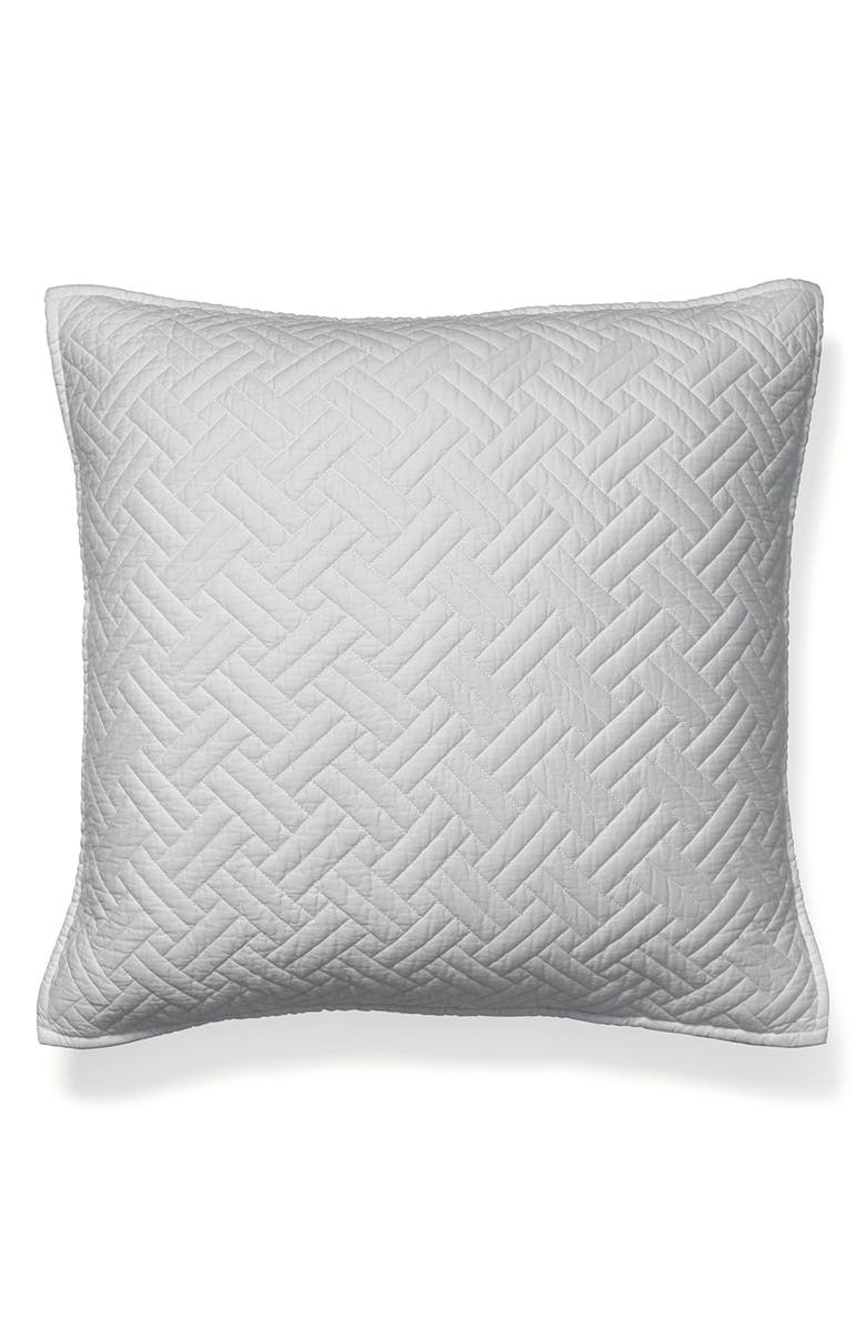 BOLL & BRANCH Heritage 300 Thread Count Quilted Euro Sham, Main, color, 020
