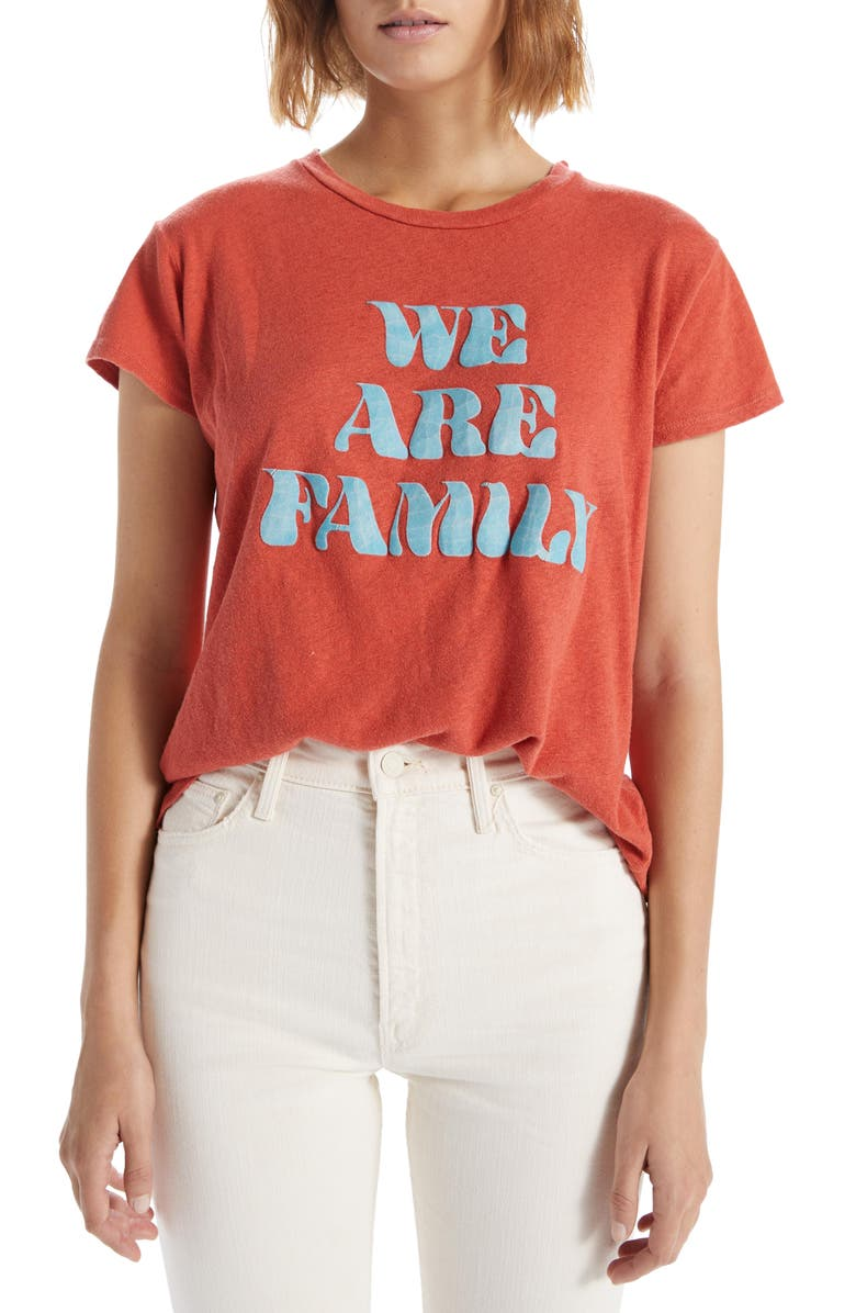 MOTHER The Sinful Holy Smokes Tee, Main, color, WE ARE FAMILY