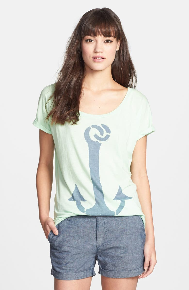 SOL ANGELES 'Anchor' Rolled Sleeve Graphic Tee, Main, color, SEAFOAM