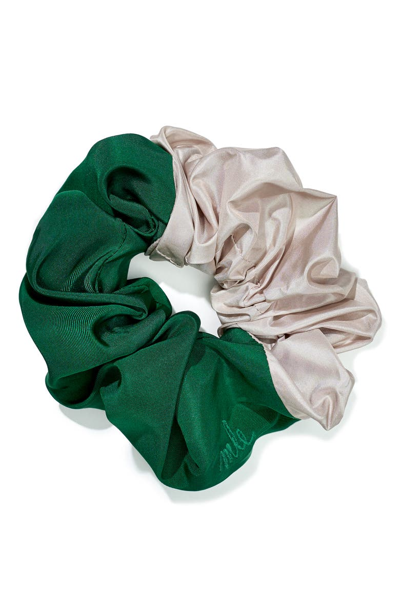 MLE Palm Colorblock Silk Scrunchie, Main, color, 300
