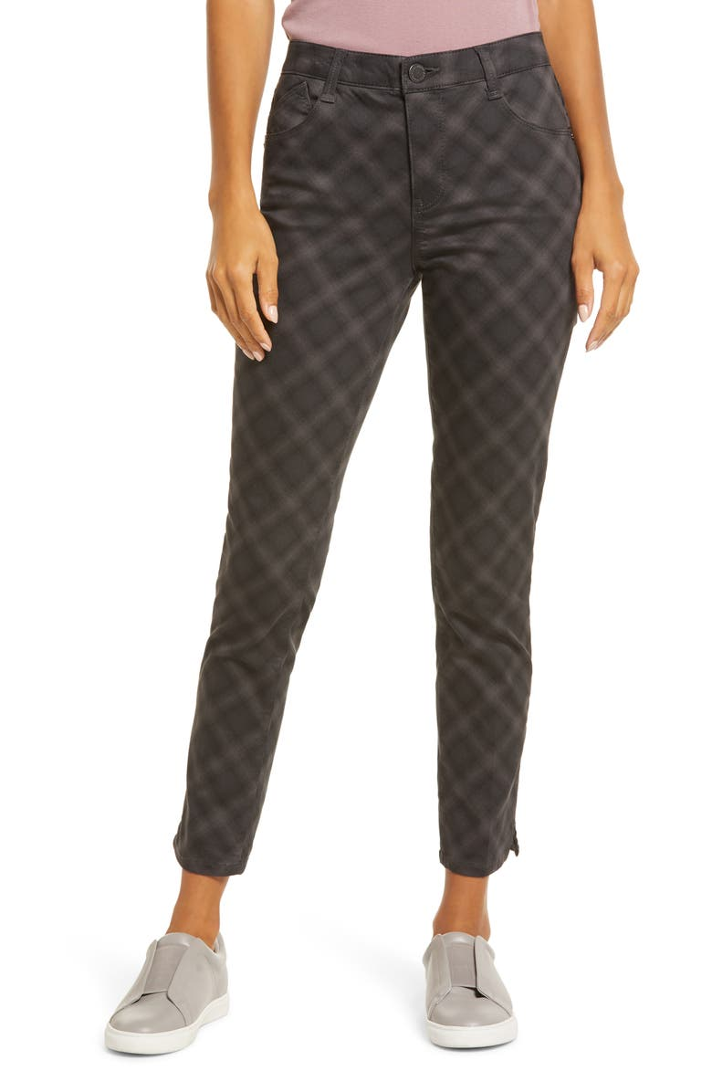 WIT & WISDOM Ab-Solution High Waist Ankle Skinny Pants, Main, color, BLACK