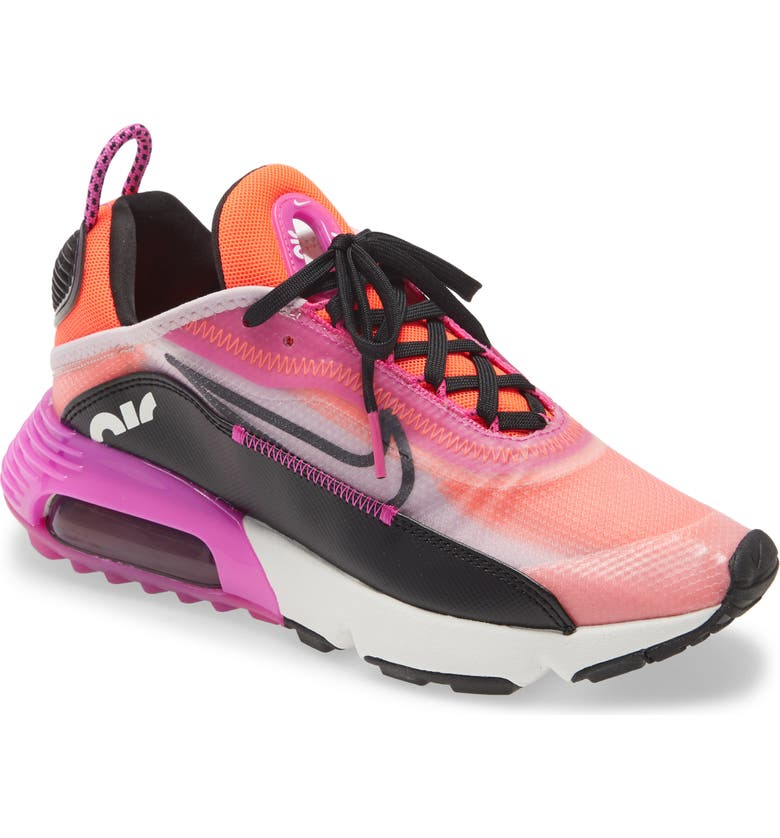 NIKE Air Max 2090 React SE Sneaker, Main, color, ICED LILAC/ BLACK/ PINK