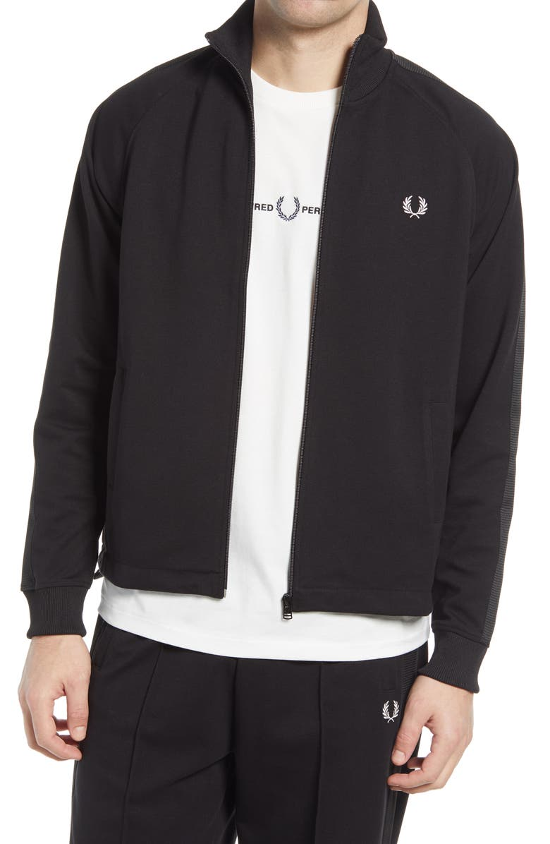 FRED PERRY Track Jacket, Main, color, BLACK