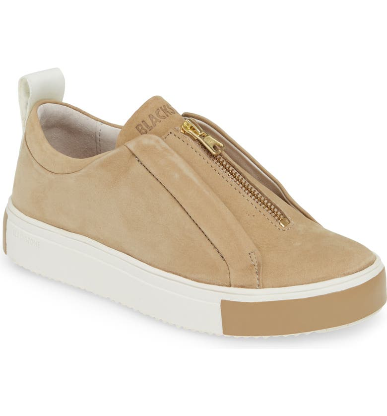 BLACKSTONE RL62 Zip Front Sneaker, Main, color, INCENSE LEATHER