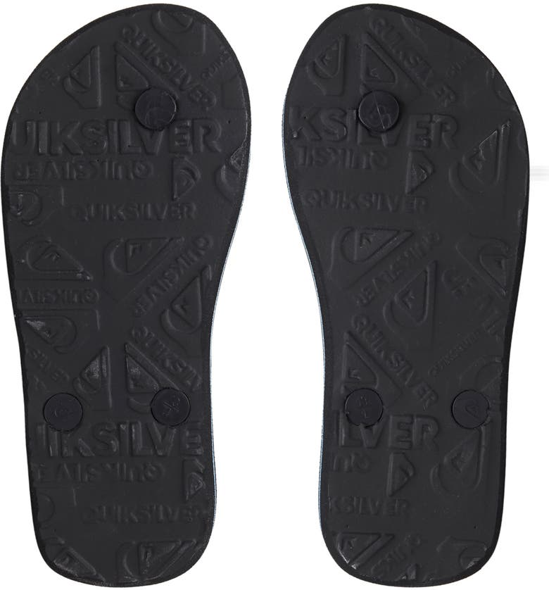 QUIKSILVER Molokai Word Block Flip Flop, Main, color, BLACK/ BLUE/ BLACK