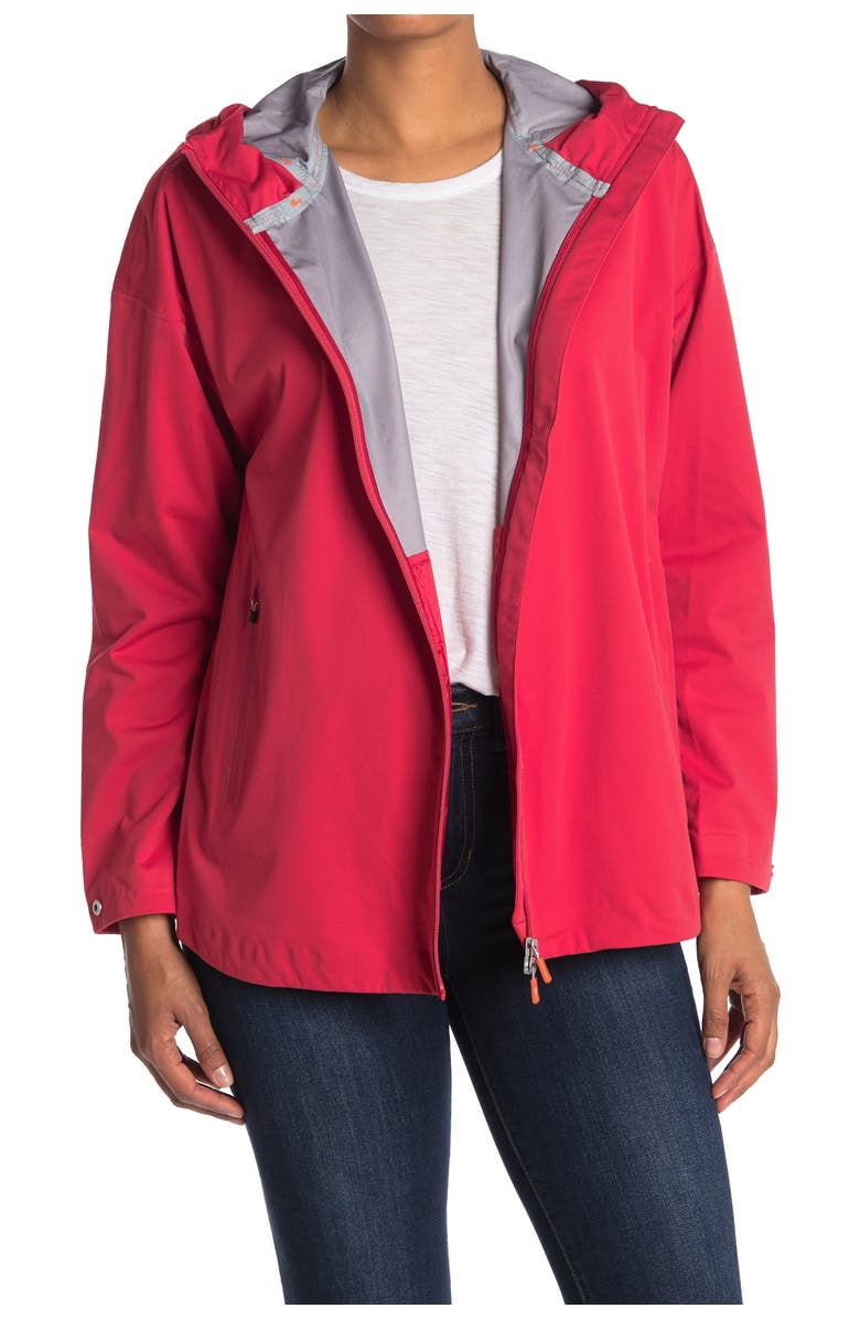 SAVE THE DUCK Bark Ultra Light Hooded Jacket, Main, color, 24 TOMATO RED
