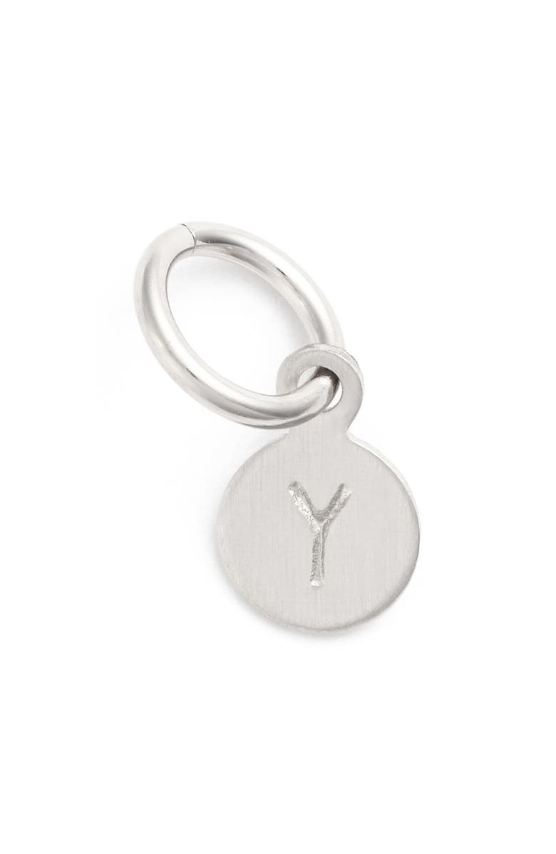 NASHELLE Tiny Initial Sterling Silver Coin Charm, Main, color, STERLING SILVER Y