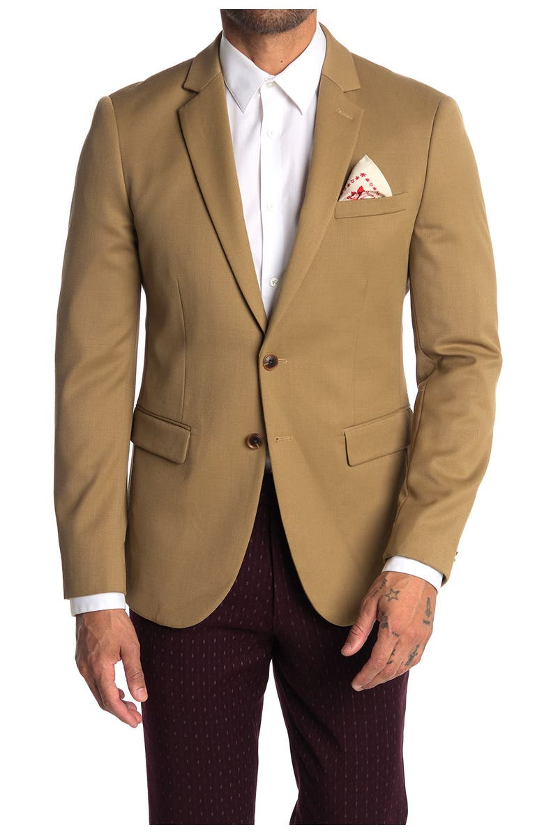 SCOTCH AND SODA Chic Notch Collar Two Button Sportcoat, Main, color, SANDSTORM