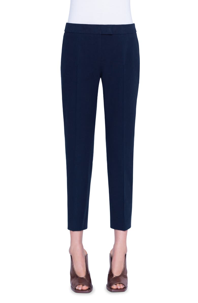 AKRIS PUNTO Frankie Stretch Cotton Pants, Main, color, NAVY