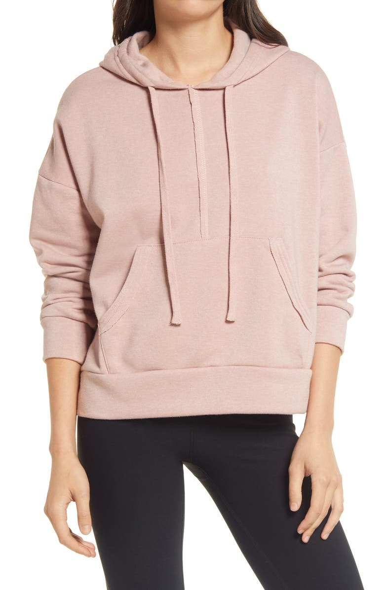 FREE PEOPLE FP MOVEMENT Work It Out Hoodie, Main, color, CAMEO DUST