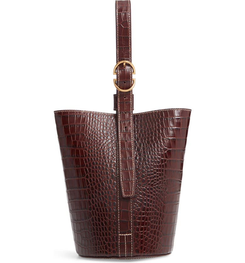 TRADEMARK Small Leather Bucket Bag, Main, color, 200