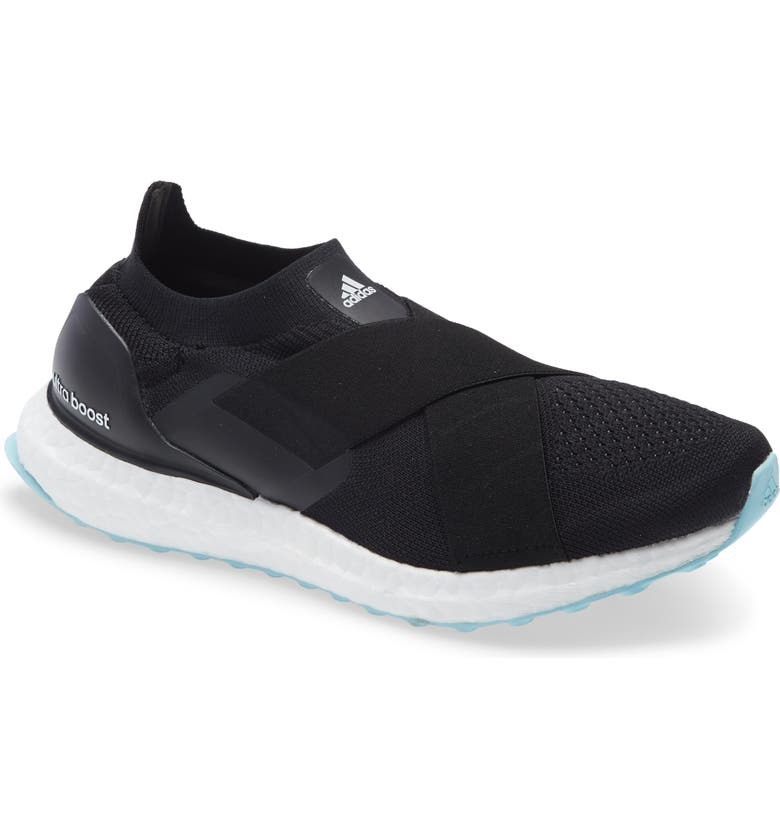 ADIDAS UltraBoost Slip-On DNA Running Shoe, Main, color, BLACK/ WHITE/ HAZY SKY