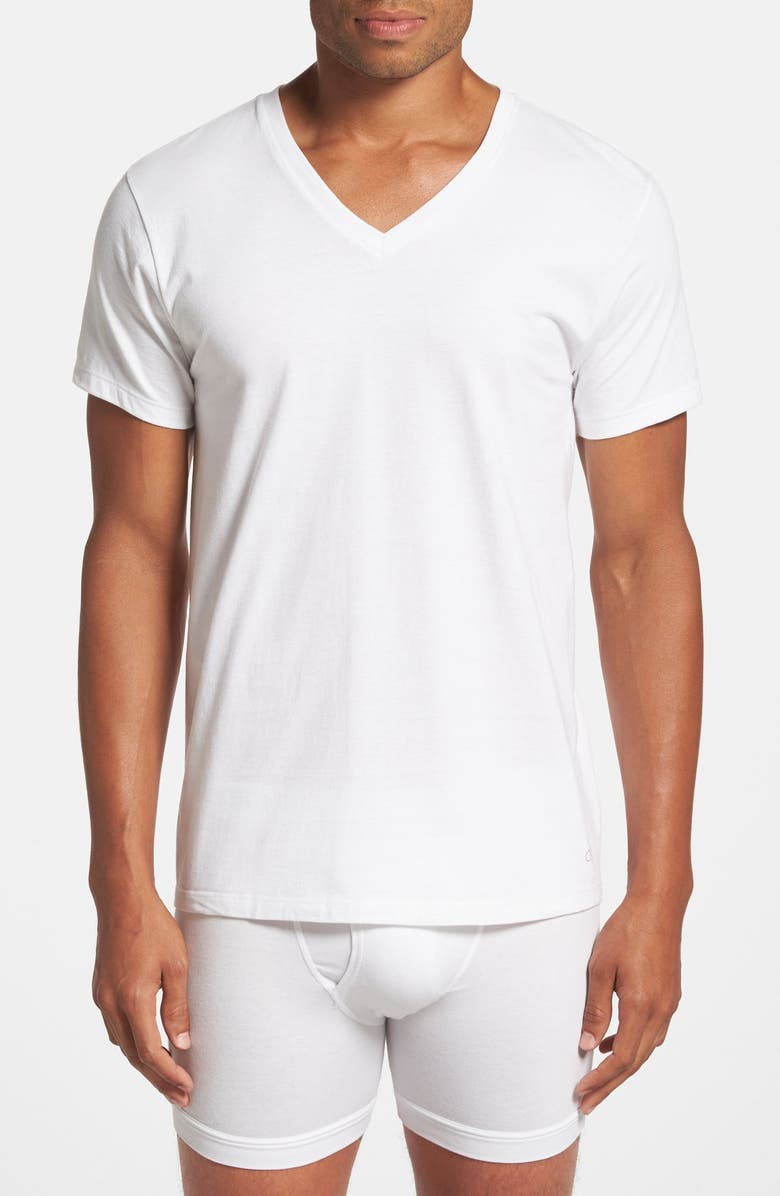 CALVIN KLEIN 3-Pack Classic Fit T-Shirt, Main, color, 100