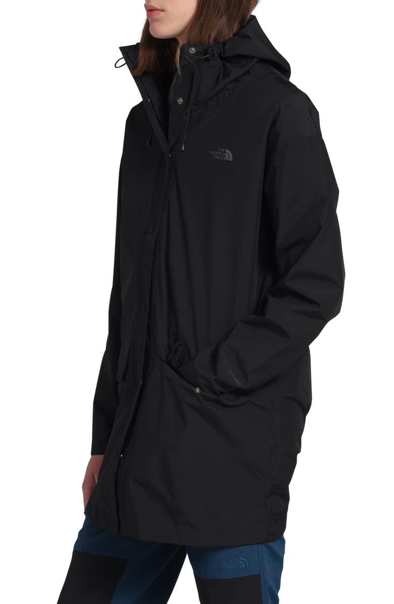THE NORTH FACE Woodmont Waterproof Hooded Rain Jacket, Main, color, TNF BLACK