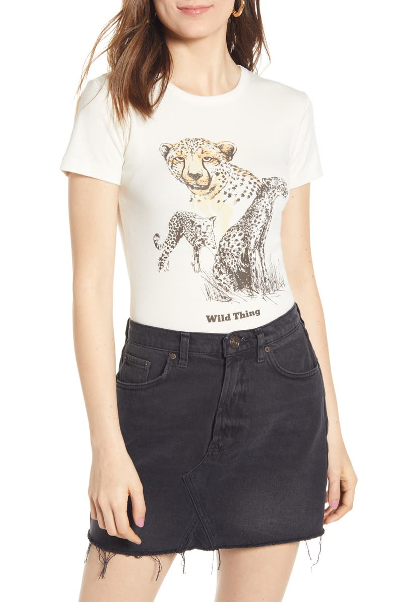 BDG URBAN OUTFITTERS Wild Things Graphic Tee, Main, color, 100